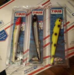 "Musky Mania Tackle - Burt Jerkbait 9"" Lot 3 - Awesome Colors"