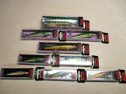 NEW 9 - RAPALA HUSKY JERK BAITS - DIFFERENT COLOR & SIZES -