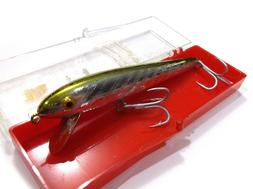 new vintage red fin minnow jerkbait fishing