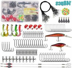 Saltwater Surf Fishing Tackle Kit  Wire Leaders Lures Biat H