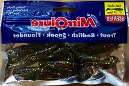 Mirrolure Soft Shad Scented Fishing Bait Lure 8 Count.. Gold